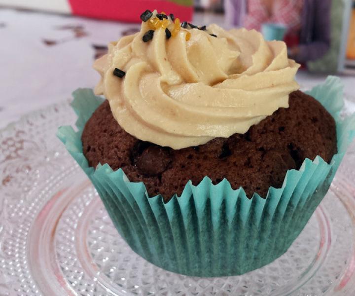 Erdnussbutter-Muffin
